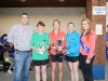 At the presentation of the prizes to the ladies winners of The Ned Run were (L-R) Stephen McKenna, Helen McCrystal, 2nd, Monaghan Phoenix AC, Nicola Flanagan, winner, Blayney Rockets, Valarie Groake 3rd and Shauna McAree, Tydavnet Show Queen. ©Rory Geary/The Northern Standard