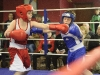 Jake Lambe, left and Max Mallen, who are both from Old School Boxing Club, during their exhibition bout. ©Rory Geary/The Northern Standard