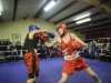 Shane McClave, right, Old School Boxing Club and Joe McGuinness from England, during their bout at last weekend's tournament. ©Rory Geary/The Northern Standard