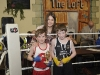 Katie Taylor with Brendan McDonald, left, Old School Boxing Club and Aaron Treanor, Emyvale Boxing Club, after their bout at last weekends tournament. ©Rory Geary/The Northern Standard