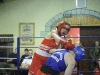 Terry McEntee, Old School Boxing Club, in action against Alex Clegg from England, during the tournament in The Skule Inn, Smithboro. ©Rory Geary/The Northern Standard