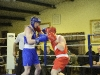 Conor Gleeson, right, Old School Boxing Club and Peter McCartan, Bishop Kelly ABC, in action during their bout. ©Rory Geary/The Northern Standard