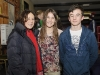 Katie Taylor with Patrica and Zach Mallen, at the Old School Boxing Club tournament in The Skule Inn. ©Rory Geary/The Northern Standard