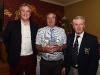 Category 2 mens winner, Jim Egan received his award from Barry Healy (Sponsor) and John Heffernan (Captain) ©Northern Standard