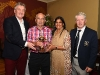Pictured is overall winner of the Oliver Brady Memorial Cup, Seamus Deery who received his award from Barry Healy (Sposnor), Rita Shah (Shabra Plastics) and John Heffernan (Captain) ©Northern Standard