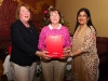 Pictured is Kathleen Cadden who was Rossmore Ladies Day 2 winner at the Oliver Brady Memorial Golf Tournament receiving her award from Mary McGann and Rita Shah. ©Northern Standard