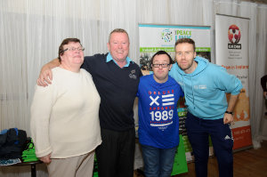 Pictured at the Clones Family Resource Centre Peace of Mind positive mental health conference were (L-R) Marie Slowey, Ciaran Mulhall, The Peacelink, Kevin Morgan and Darren Farrelly, The Peacelink, ©Rory Geary/The Northern Standard