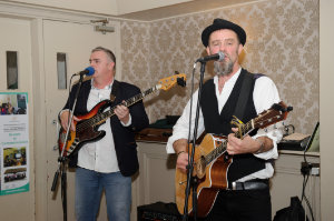 Dex Murphy and Alex Watson, during a musical performance at the Clones Family Resource Centre Peace of Mind positive mental health conference in The Creighton Hotel, Clones. ©Rory Geary/The Northern Standard