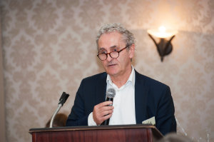 Paddy Harte, a Board Member of the International Fund For Ireland, speaking at the Peace of Mind positive mental health conference which was held by the Clones Family Resource Centre at The Creighton Hotel, last Friday. ©Rory Geary/The Northern Standard