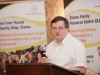 Chairman of the Clones Family Resource Centre, Arthur Bray, speaking at their Peace of Mind positive mental health conference, which was held in The Creighton Hotel, Clones. ©Rory Geary/The Northern Standard