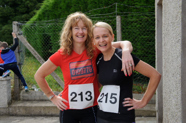 At the Friends of Roslea Shamrock's 5 Miler Border Challenge were Marion Reid and Ann Marie McAree. ©Rory Geary/The Northern Standard