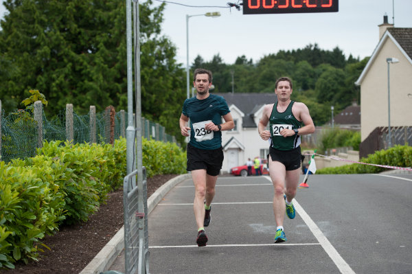 Joint winners of 3rd place in the 5 Miler for the Friends of Roslea Shamrock's, as they finished the race. ©Rory Geary/The Northern Standard