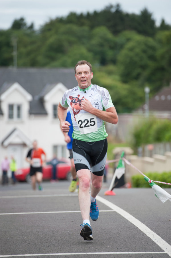 One of the runners finishing the Friends of Roslea Shamrock's 5 Miler Border Challenge. ©Rory Geary/The Northern Standard