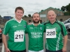 At the Friends of Roslea Shamrock's 5 Miler Border Challenge were (L-R) Francis Rooney, Martin McClave and Eamon Linham. ©Rory Geary/The Northern Standard