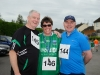 At the Friends of Roslea Shamrock's 5 Miler Border Challenge were (L-R) Michael and Sinead McKenna and John Mohan. ©Rory Geary/The Northern Standard