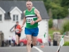 Alo Grew from Monaghan Phoenix AC finishing the Friends of Roslea Shamrock's 5 Miler Border Challenge, last Sunday. ©Rory Geary/The Northern Standard