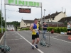 Johnny McCaughey from Clones AC, crossing the finishline at the Friends of Roslea Shamrock's 5 Miler Border Challenge ©Rory Geary/The Northern Standard