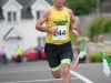 Donal McArdle from Glaslough Harriers, reaching the finish of the Friends of Roslea Shamrock's 5 Miler Border Challenge, last Sunday. ©Rory Geary/The Northern Standard