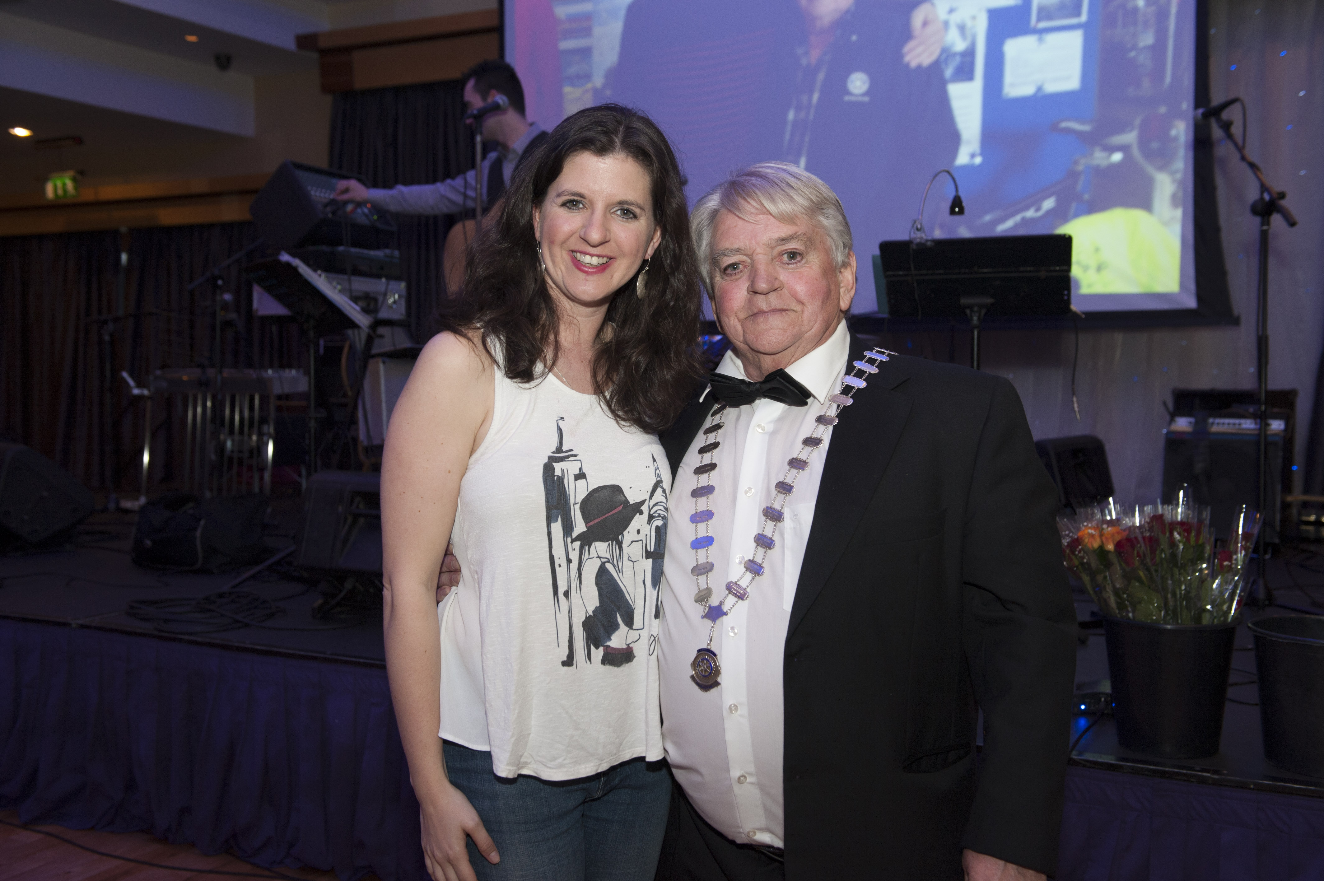 Clara Rose with Pat Deery at Pat The President's Country Music & Western Night for Monaghan Rotary Club. ©Rory Geary/The Northern Standard