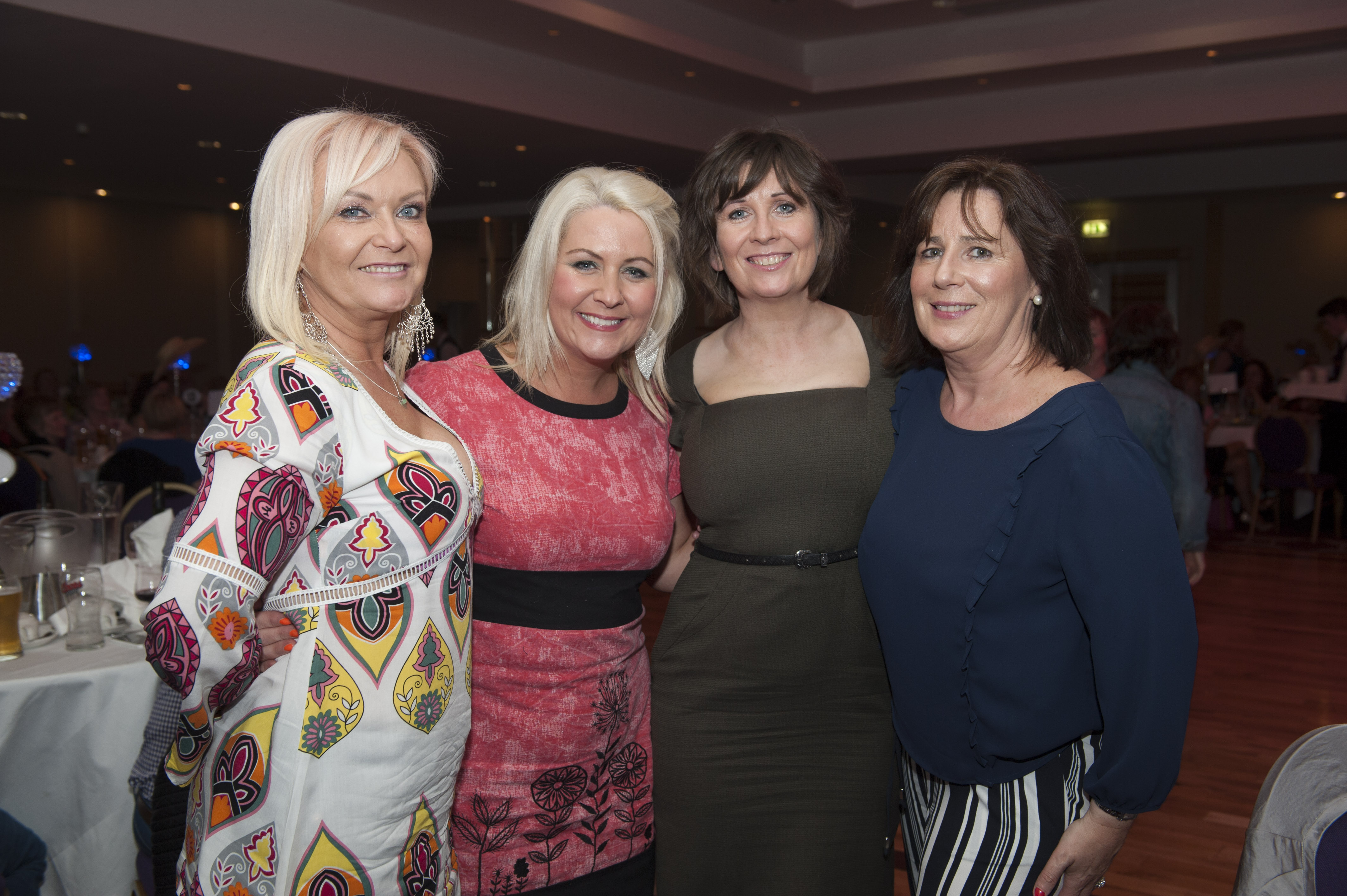 Pictured at Pat The President's Country Music & Western Night were (L-R) Cathy Lavery, Audri Herron, Pauline McKenna and Ann Lowry. ©Rory Geary/The Northern Standard