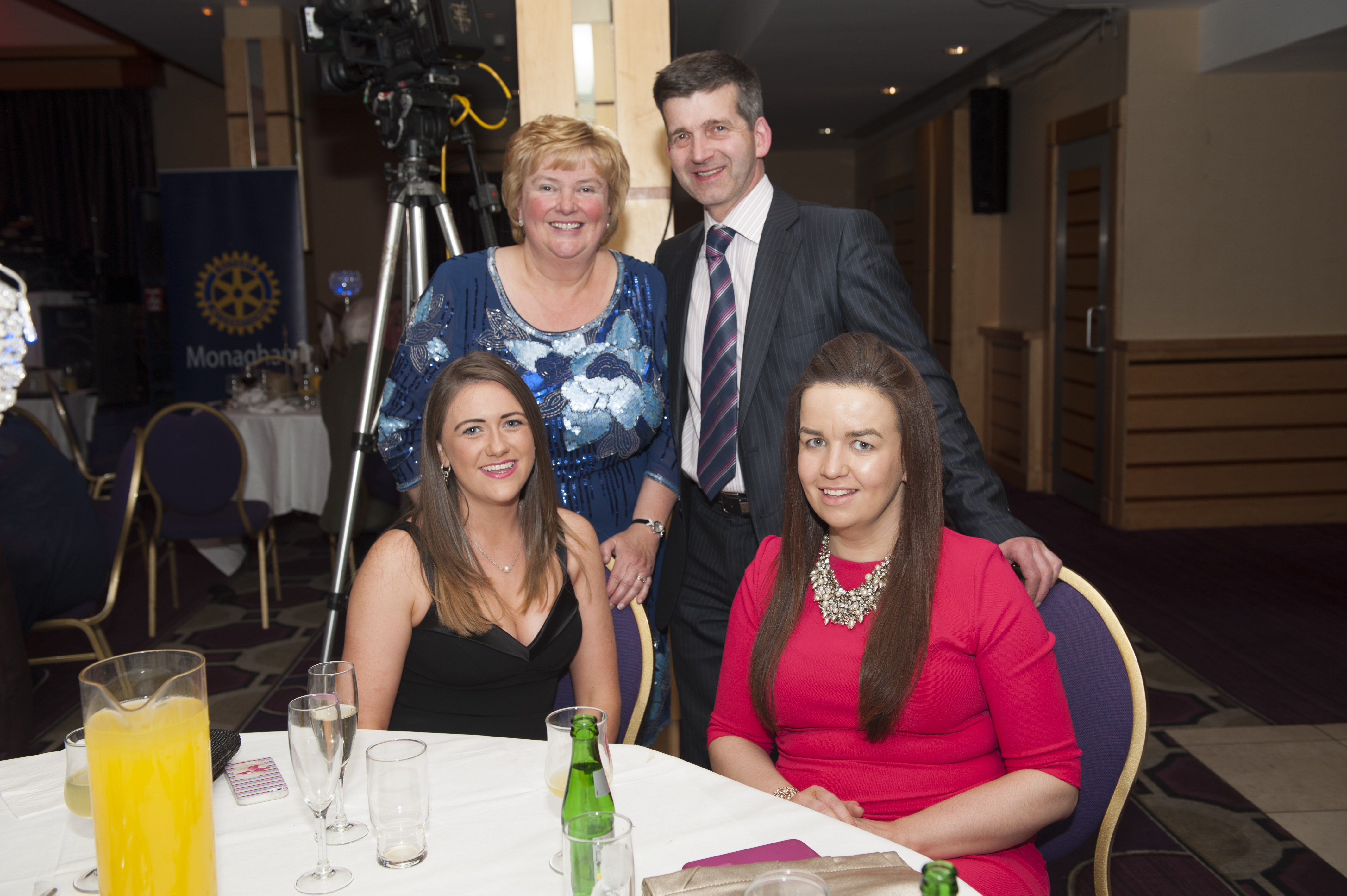 Pictured at the Monaghan Rotary Club's Pat The President's Country Music & Western Night were front Adrienne Sherry and Joanne Murnaghan with Diane and Ron Kendrick, behind. ©Rory Geary/The Northern Standard
