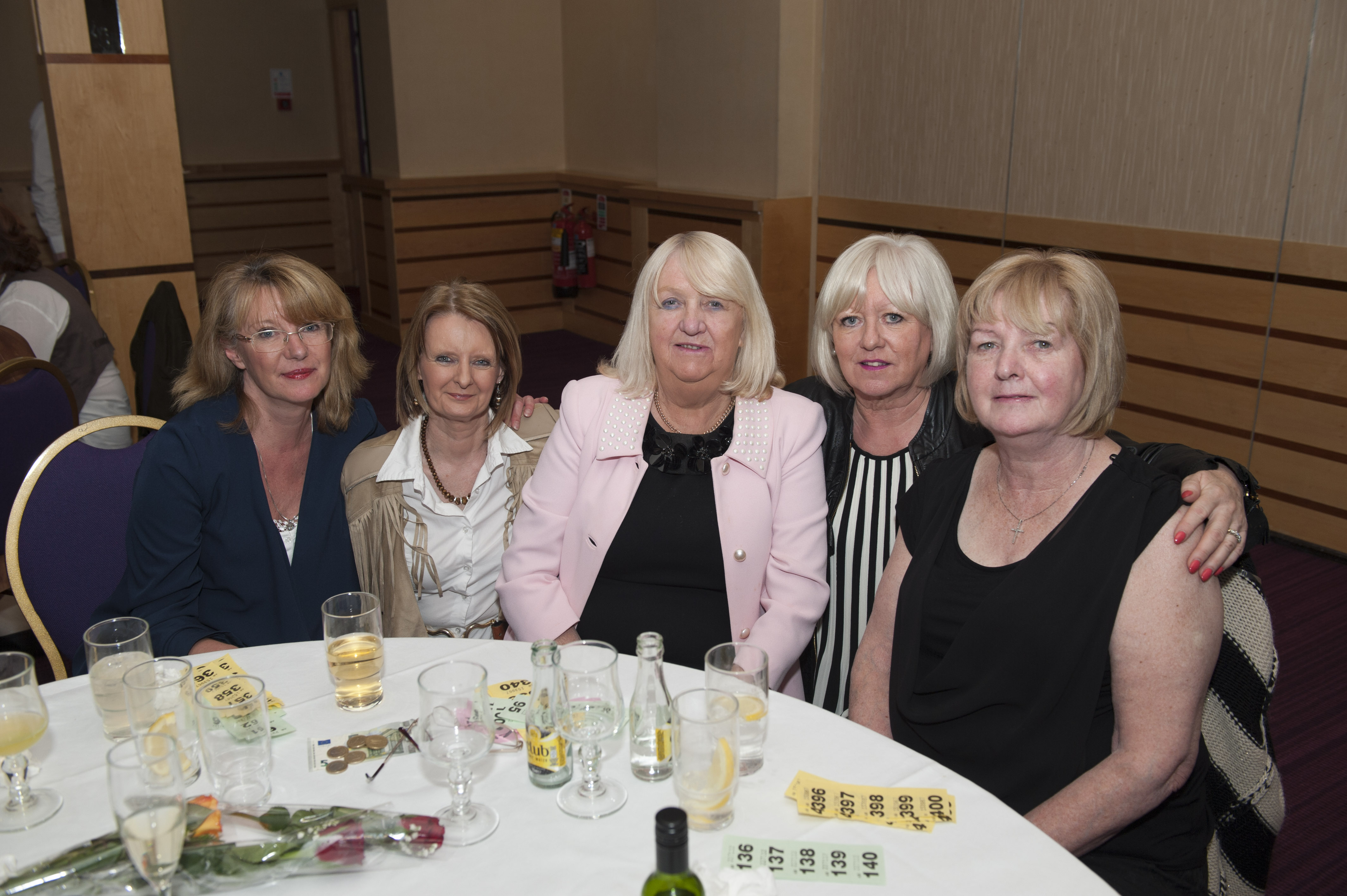 At the Monaghan Rotary Club Country & Western night were (L-R) Marcella Gaynor, Chris O'Connell, Jo Sherry, Kate McBride and Alice Mullen. ©Rory Geary/The Northern Standard