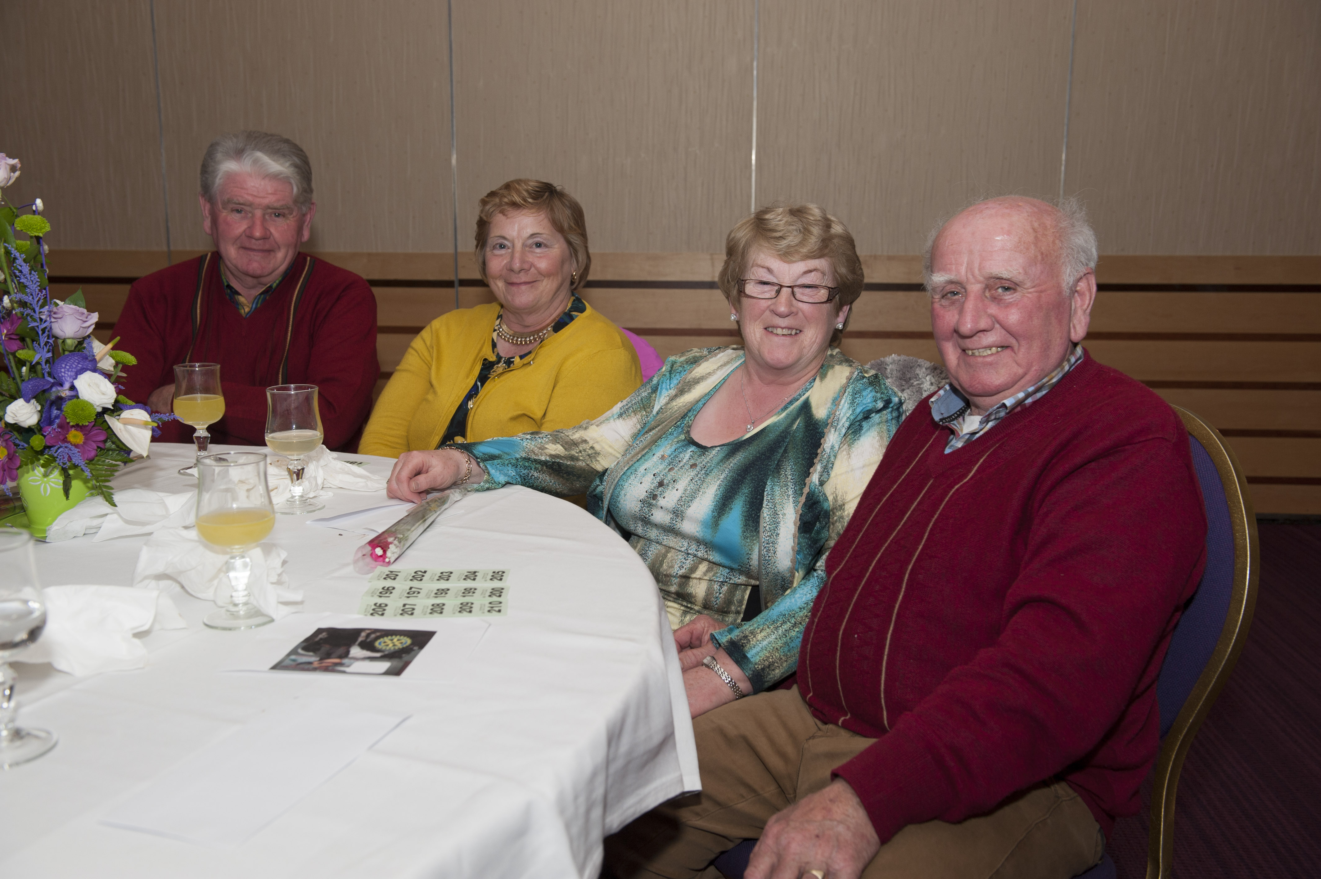 Pictured at the Monaghan Rotary Club's Pat The President's Country Music & Western Night were (L-R) Jim Joe and Margaret McCarra and Mary and Pete McCarra. ©Rory Geary/The Northern Standard