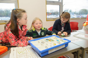 At one of the Lego Mindstorm workshop's were (L-R) Eva McGinnitty, Emer Larmer and Branna Connolly. ©Rory Geary/The Northern Standard