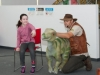 Sofie Neeson with Dale Treadwell from Naturally Wild, during one of his shows about dinosaurs. ©Rory Geary/The Northern Standard