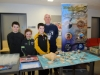 Cathal, Alice and Sean McCooey, with Benny Joyce, from Education Through Recreation and some of the display of marine life at the science festival funday. ©Rory Geary/The Northern Standard