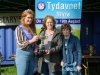 Tydavnet Show Queen Shauna McAree, left and President of Tydavnet Show, Mary Sherry, right, presenting the ICA Cup (Scotstown Guild) which was won by Ardaghey ICA to Maria Hughes, Ardaghey ICA. ©Rory Geary/The Northern Standard