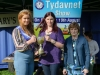 Tydavnet Show Queen Shauna McAree, left and President of Tydavnet Show, Mary Sherry, right, presenting Margo Smyth with the Paul Carey Cup for Homebaking. ©Rory Geary/The Northern Standard