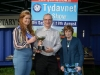 Tydavnet Show Queen Shauna McAree, left and President of Tydavnet Show, Mary Sherry, right, presenting the Sean Boylan Cup for Photography (Open) to Mark Snowden. ©Rory Geary/The Northern Standard