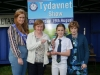 At the presentation of the Monaghan Credit Union Cup for Art Primary Schools were (L-R) Tydavnet Show Queen Shauna McAree, Ann Sherlock, Monaghan Credit Union, Shannon Feeley, winner and Mary Sherry, President of Tydavnet Show. ©Rory Geary/The Northern Standard
