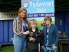 Tydavnet Show Queen Shauna McAree, left and President of Tydavnet Show, Mary Sherry, right, presenting the Foroige Cup to winner Malcolm Graham. ©Rory Geary/The Northern Standard