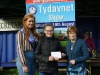 Tydavnet Show Queen Shauna McAree, left and President of Tydavnet Show, Mary Sherry, right, presenting Alice Duffy, winner of the Monaghan County Council vouchers. ©Rory Geary/The Northern Standard