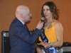 Sean McCaffrey, interviewing Makaela Murphy, at the Tydavnet Show Queen competition. ©Rory Geary/The Northern Standard