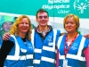Patricia McMenamin, Clones, (left) with Johnny Surgeoner, Lurgan and Kate Kieran, Carrickmacross, volunteers, at the Ulster Special Olympics Advancement Bowling Event, staged at GR8 Entertainment Complex, Monaghan Road Business Park Castleblayney. Picture: Jimmy Walsh