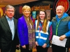 Pictured with Arts Minister Heather Humphreys - Padraig Watters, Chloe Keenan, Scotstown and Peadar Lafferty, Breifni Blues, at the Ulster Special Olympics Advancement Bowling Event, staged at GR8 Entertainment Complex, Monaghan Road Business Park Castleblayney. Picture: Jimmy Walsh