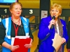 Minister for Arts, Heritage and the Gaeltacht Heather Humphreys, with Event Manager Siobhan Toner, from Newry, at the Launch of the Ulster Special Olympics Advancement Bowling Event, staged at GR8 Entertainment Complex, Monaghan Road Business Park Castleblayney. Picture: Jimmy Walsh