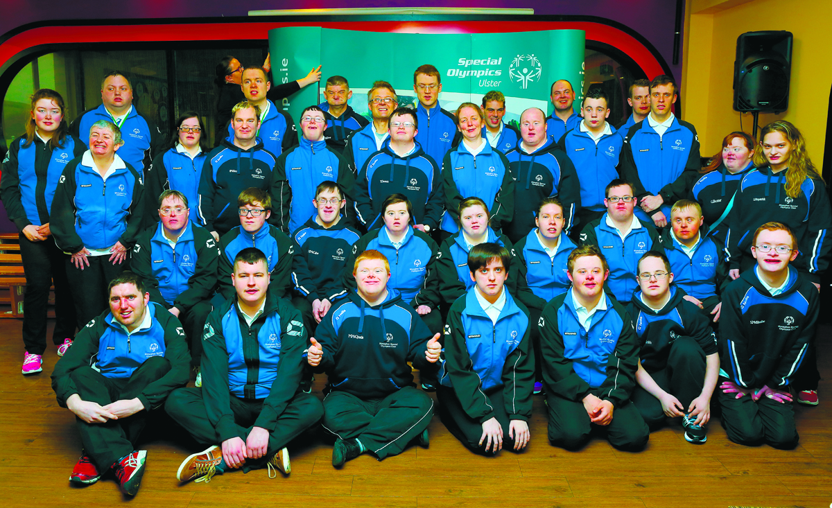 The Monaghan Special Olympics group, pictured at the Ulster Special Olympics Advancement Bowling Event, staged at GR8 Entertainment Complex, Monaghan Road Business Park Castleblayney. Picture: Jimmy Walsh
