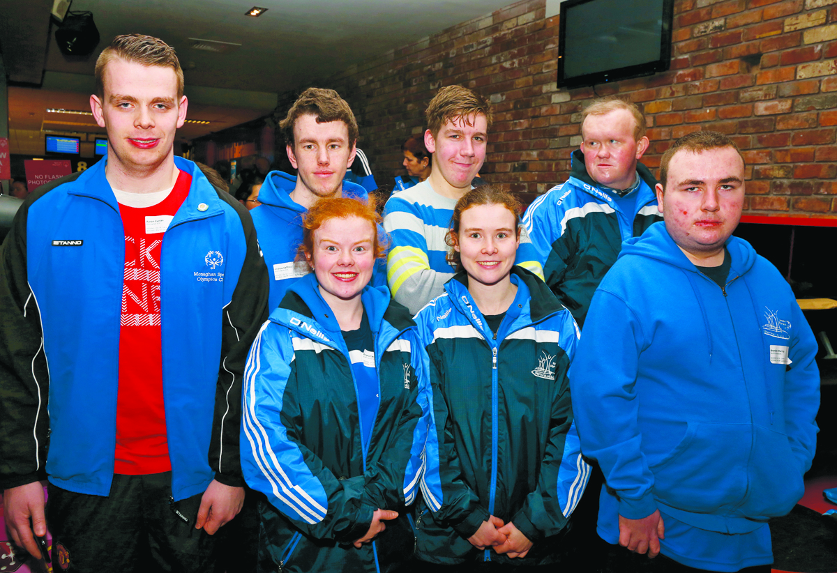 Special Olympic group from County Cavan, at the Ulster Special Olympics Advancement Bowling Event, staged at GR8 Entertainment Complex, Monaghan Road Business Park Castleblayney. Picture: Jimmy Walsh