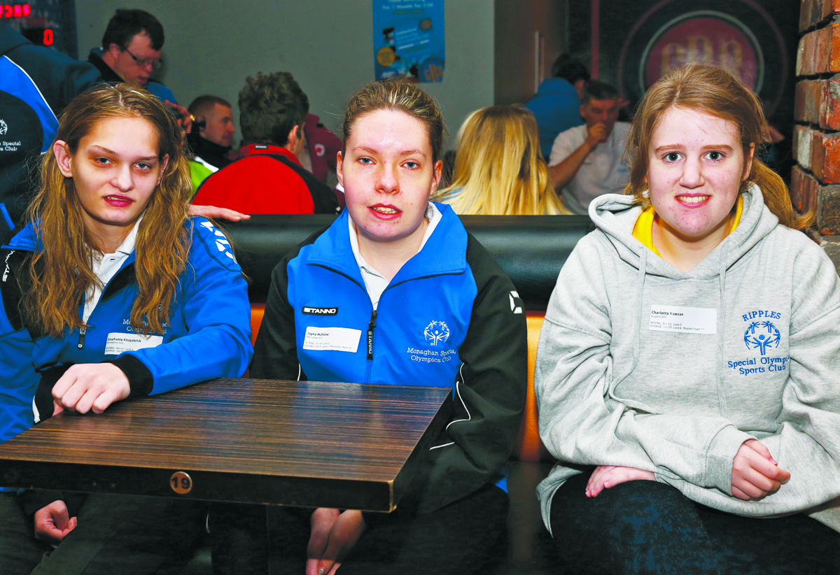 Monaghan participants at the Ulster Special Olympics Advancement Bowling Event, staged at GR8 Entertainment Complex, Monaghan Road Business Park Castleblayney. Picture: Jimmy Walsh