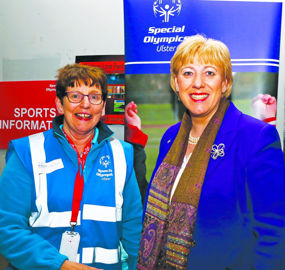 Geraldine Mullin, Desk Co-Ordinator with Arts Minister Heather Humphreys, at the Ulster Special Olympics Advancement Bowling Event, staged at GR8 Entertainment Complex, Monaghan Road Business Park Castleblayney. Picture: Jimmy Walsh