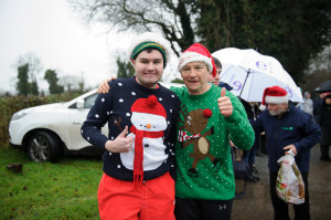 Conor and Kieran Walsh at the Christmas Day Swim at Emylough. ©Rory Geary/The Northern Standard