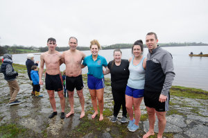Some of the O'Brien family at Emy Lake for the Christmas Day Swim. ©Rory Geary/The Northern Standard