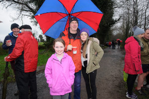 At the Christmas Day Swim at Emy Lake for the Monaghan Parents and Friends were (L-R) Orna, Enda and Saoirse McAree. ©Rory Geary/The Northern Standard