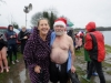Sammy Leslie and Sean McGonnell at the Christmas Day Swim at Emy Lake which was held in aid of the Monaghan Parents and Friends. ©Rory Geary/The Northern Standard