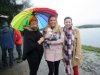 At the Christmas Day Swim at Emy Lake for the Monaghan Parents and Friends were (L-R) Brona and Amy Hamill, with Max and Kathleen Connolly. ©Rory Geary/The Northern Standard