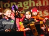 Some of the musicians from Gaelscoil Ultain, playing at the Monaghan Town Christmas Lights Switch-On event. ©Rory Geary/The Northern Standard